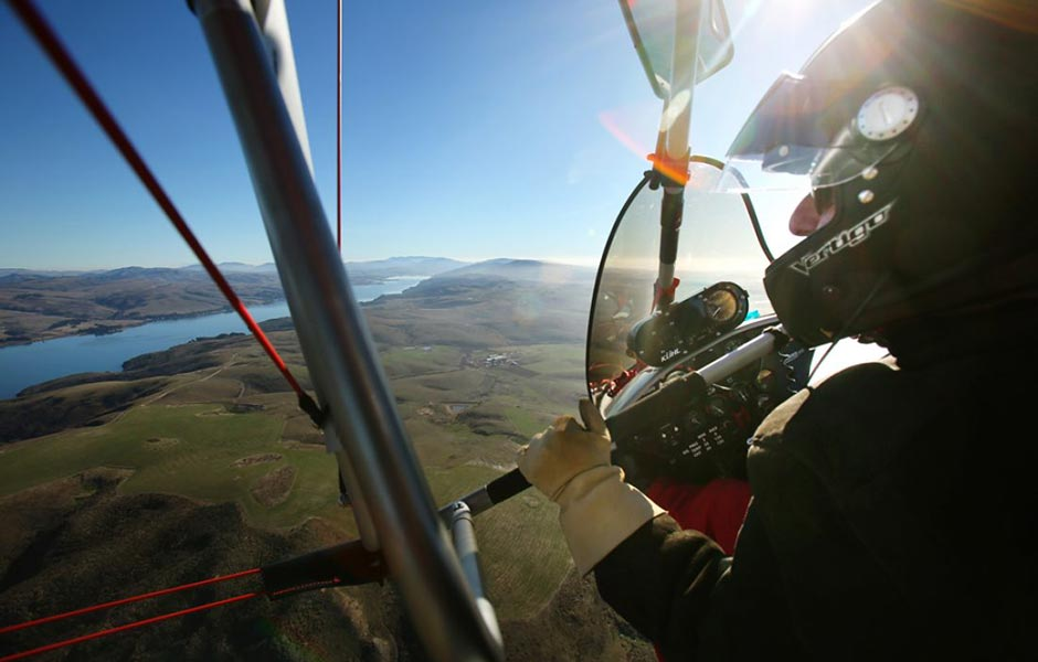 Up and away in a flying trike